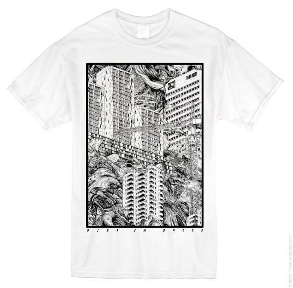 T-shirt Organische stad